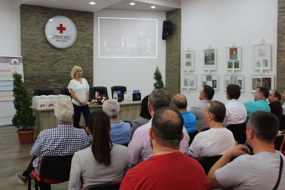 Делегацијa Црвеног крста Македоније u Зрењанину