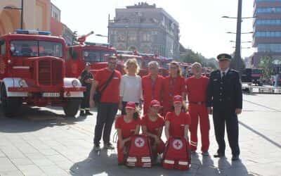 Заједничка вежба Ватрогасно спасилачког батаљона, ДВД-а, СХМП и Црвеног крста Зрењанин