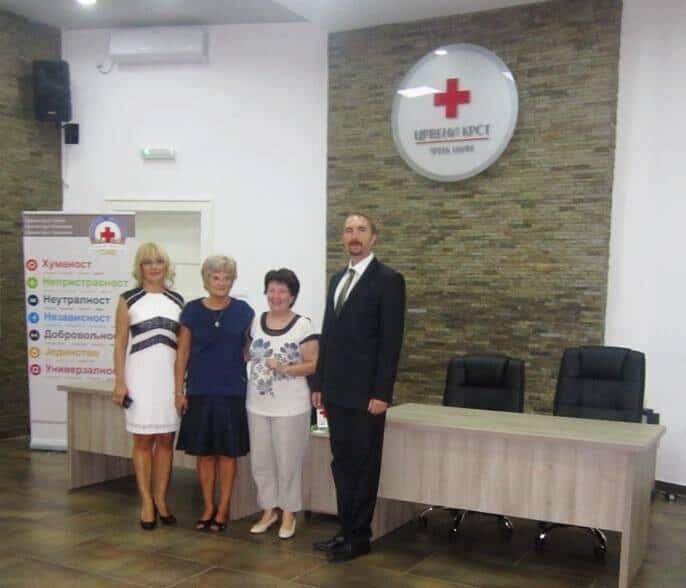 Посета директорке Црвеног крста Арада Црвеном крсту Зрењанин