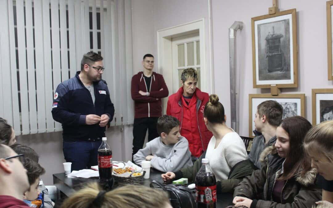 Састанак чланова ОТЈ Црвеног крста Зрењанин
