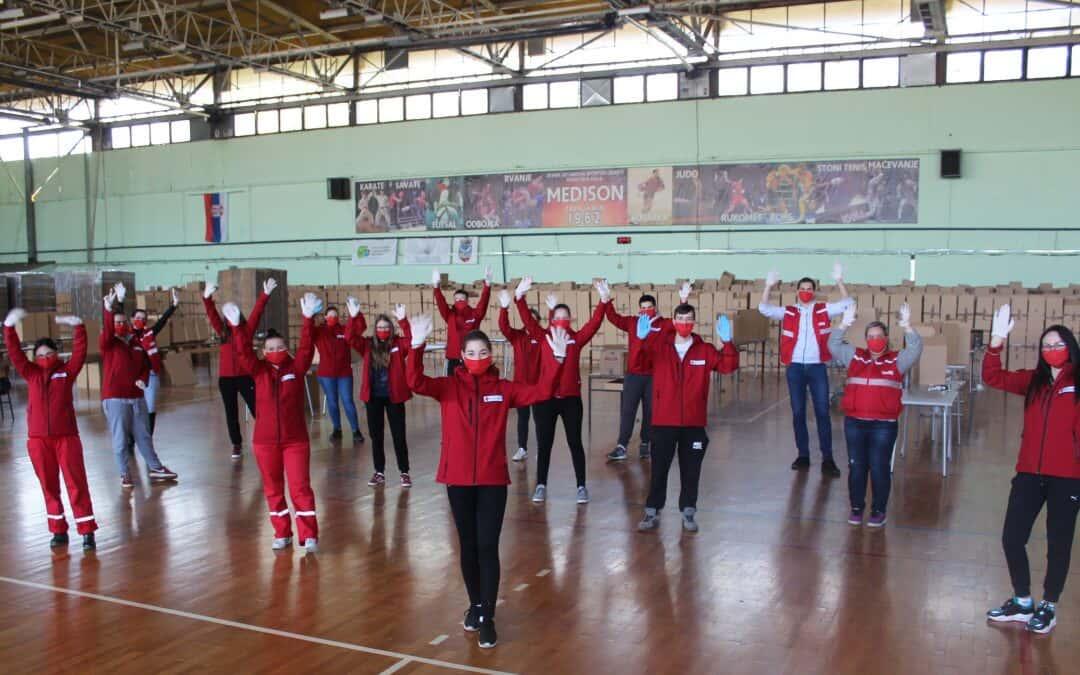 Волонтери Црвеног крста у акцији