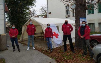 Други шатор Црвеног крста у зрењанинској болници