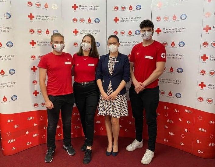 Акција добровољног давања крви са U.S.Embassy Belgrade