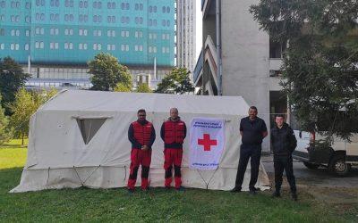 Шатор Црвеног крста у зрењанинској болници